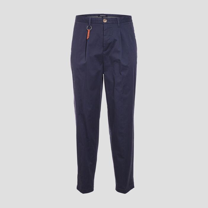 Pantalon chino avec porte-clés bleu foncé homme
