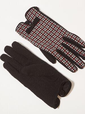 Gants avec noeud noir femme