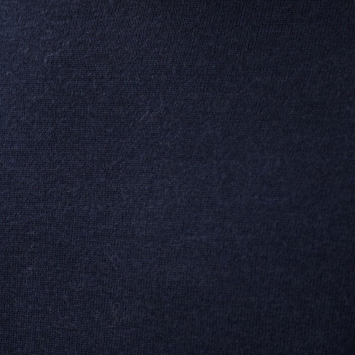 Pull col roulé 100% laine merinos bleu marine homme