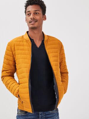 Doudoune eco responsable jaune moutarde homme