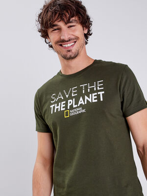T shirt National Geographic vert homme