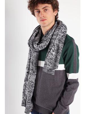 Large echarpe tricotee noir homme