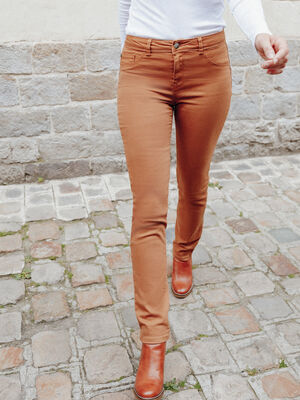 Pantalon marron femme