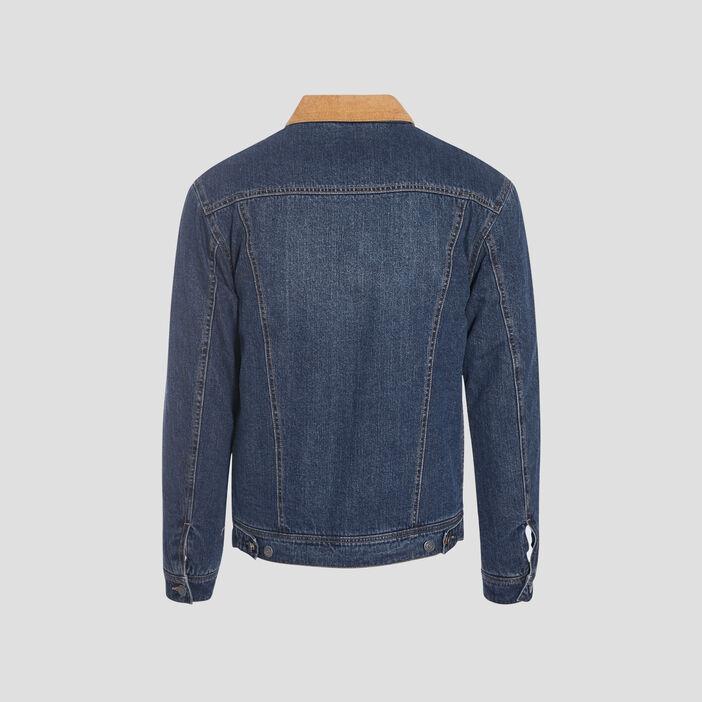 Veste en jean bleu gris homme