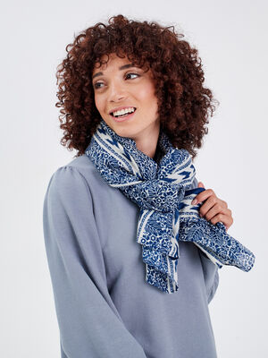 Foulard bleu violet femme