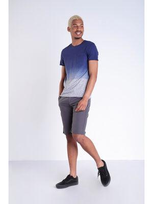 T shirt effet tie and dye bleu lavande homme
