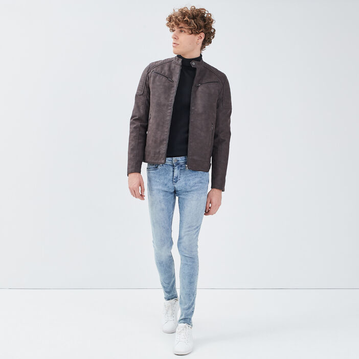 Jeans skinny 5 poches denim double stone homme