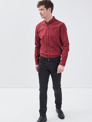 Jeans skinny avec chaine denim noir homme