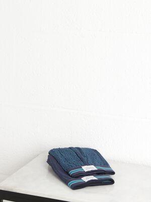 lot 2 boxers coton fleurs homme bleu canard