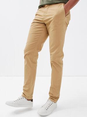 Pantalon slim Instinct chino beige homme