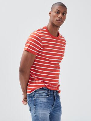 T shirt eco responsable orange homme