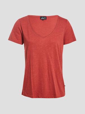 T shirt eco responsable bordeaux femme