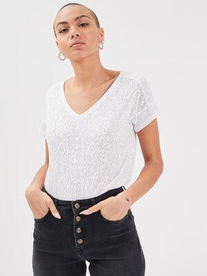 T shirt eco responsable blanc femme