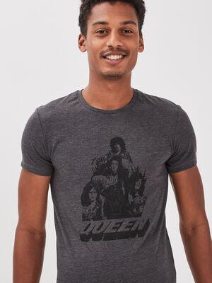 T shirt manches courtes Queen gris fonce homme