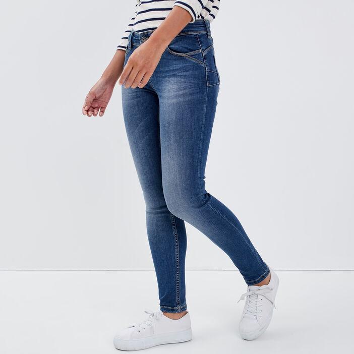 Jeans slim push up 7/8ème denim stone femme