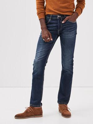 Jeans straight used denim brut homme