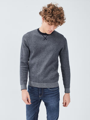 Pull eco responsable bleu fonce homme