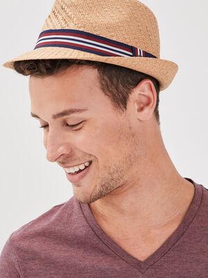 Chapeau creme homme