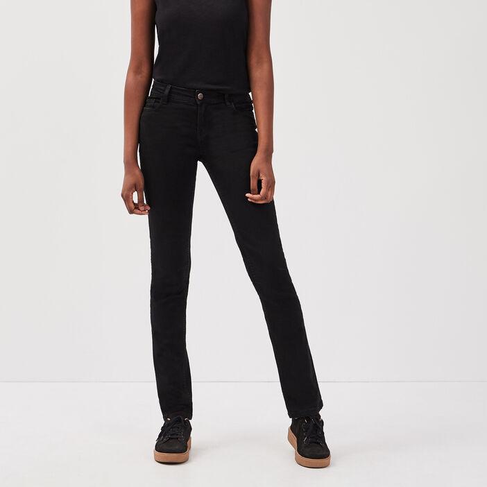 Jeans regular denim noir femme