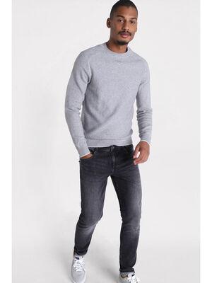 Jeans skinny effet used denim noir homme