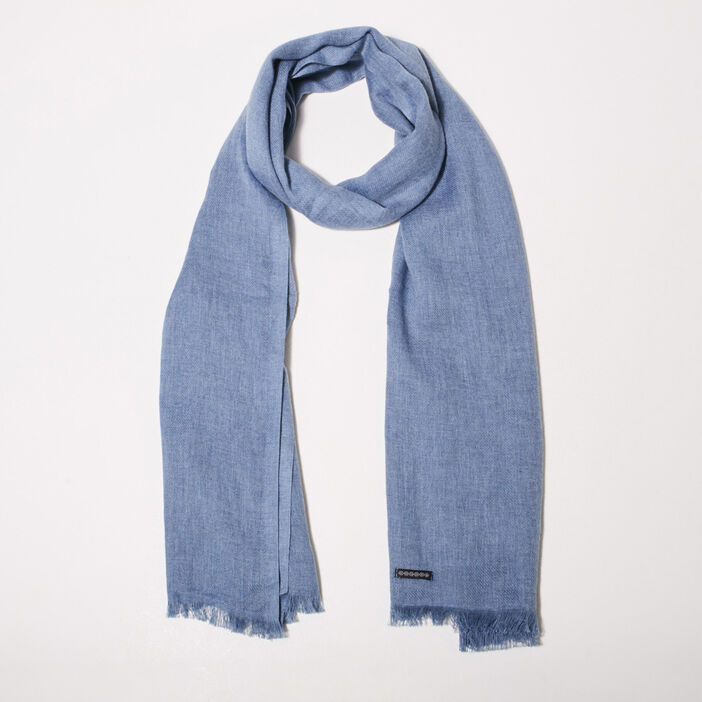 Foulard bleu homme