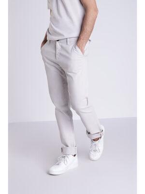 Pantalon Instinct chino ajuste gris clair homme