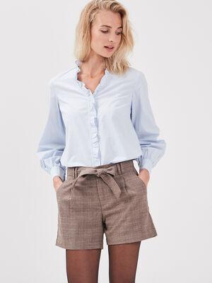 Short paperbag marron femme