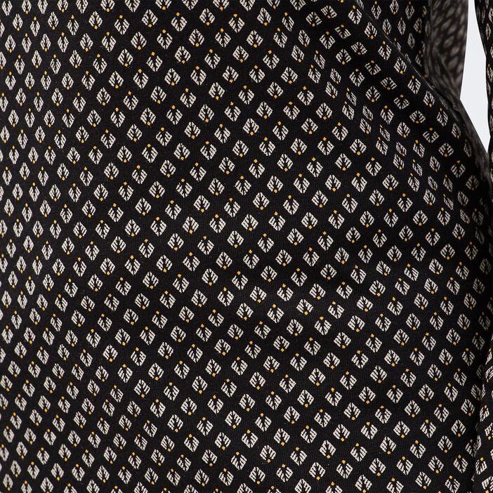 T-shirt Instinct col en V noir femme