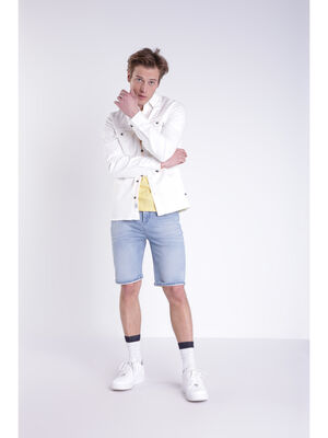 Chemise manches longues ecru homme