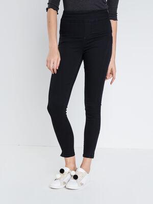 Jeans skinny taille haute ORIGAMI denim noir femme
