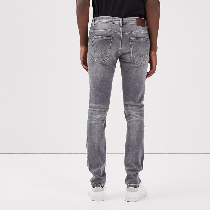 Jeans slim ultra stretch denim snow gris homme