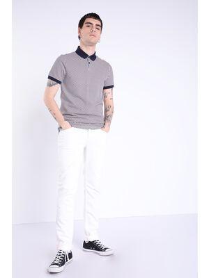 jeans slim poche zippee blanc