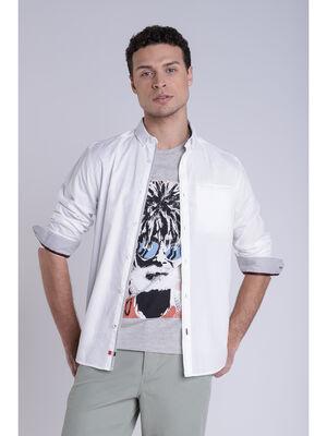 Chemise manches longues blanc homme