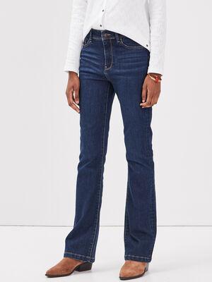 Jeans bootcut eco responsable denim brut femme