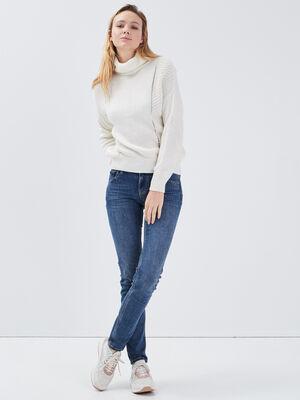 Jeans Grace  slim push up denim stone femme