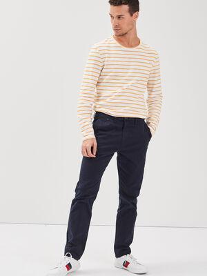 Pantalon slim Instinct chino bleu fonce homme
