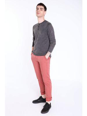 pantalon chino regular homme instinct vieux rose