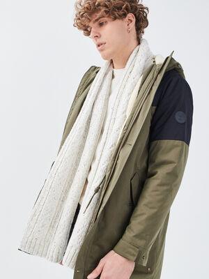 charpe tricotee ecru homme