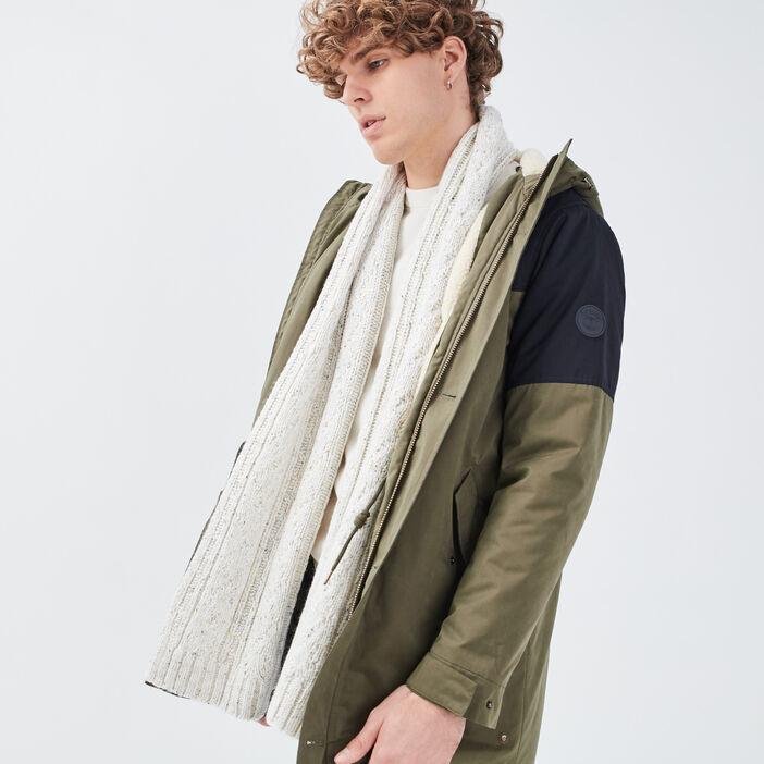 Écharpe tricotée ecru homme