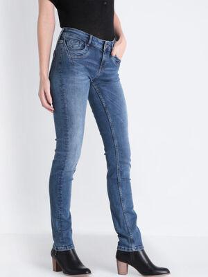 Jeans slim taille basse denim stone femme