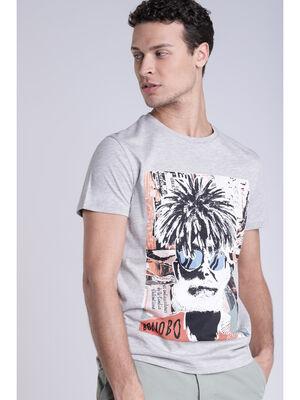 T shirt gris clair homme