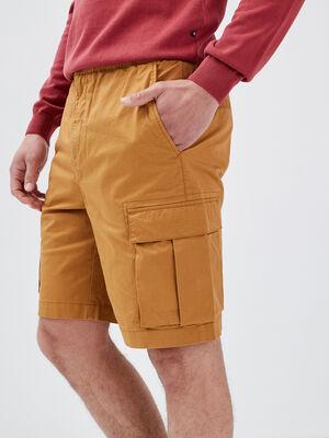 Bermuda cargo elastique beige homme