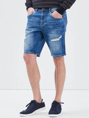 Bermuda eco responsable denim stone homme