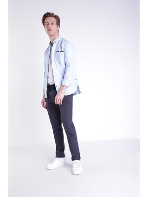 Pantalon chino 4 poches bleu fonce homme