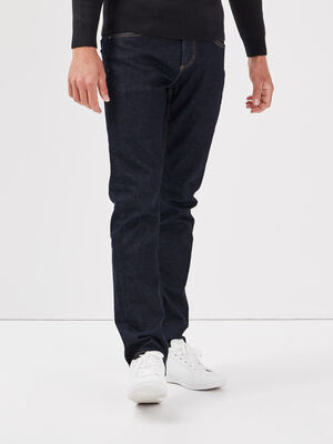 Jeans straight bleu homme