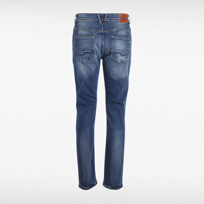 Jeans 5 poches used denim stone homme