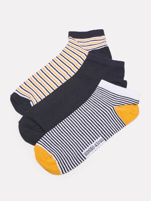 Lot 3 paires de chaussettes jaune moutarde homme