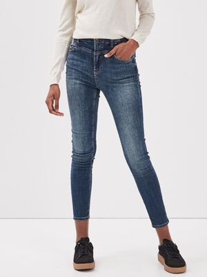 Jeans Brigitte  skinny taille haute denim stone femme