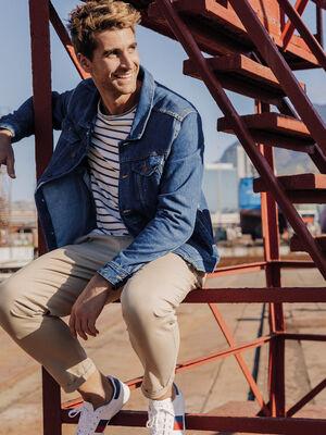 Chemise manches longues jean denim stone homme