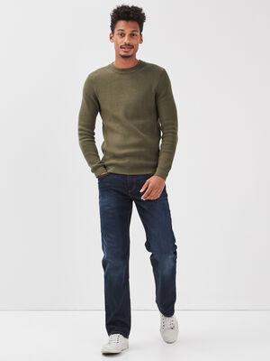 Jeans regular eco responsable denim brut homme